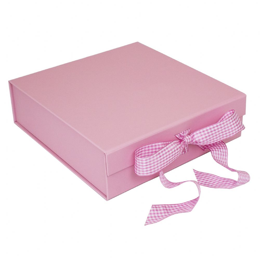 Pink Presentation Gift Box - Suitable for 8 Inch Plates